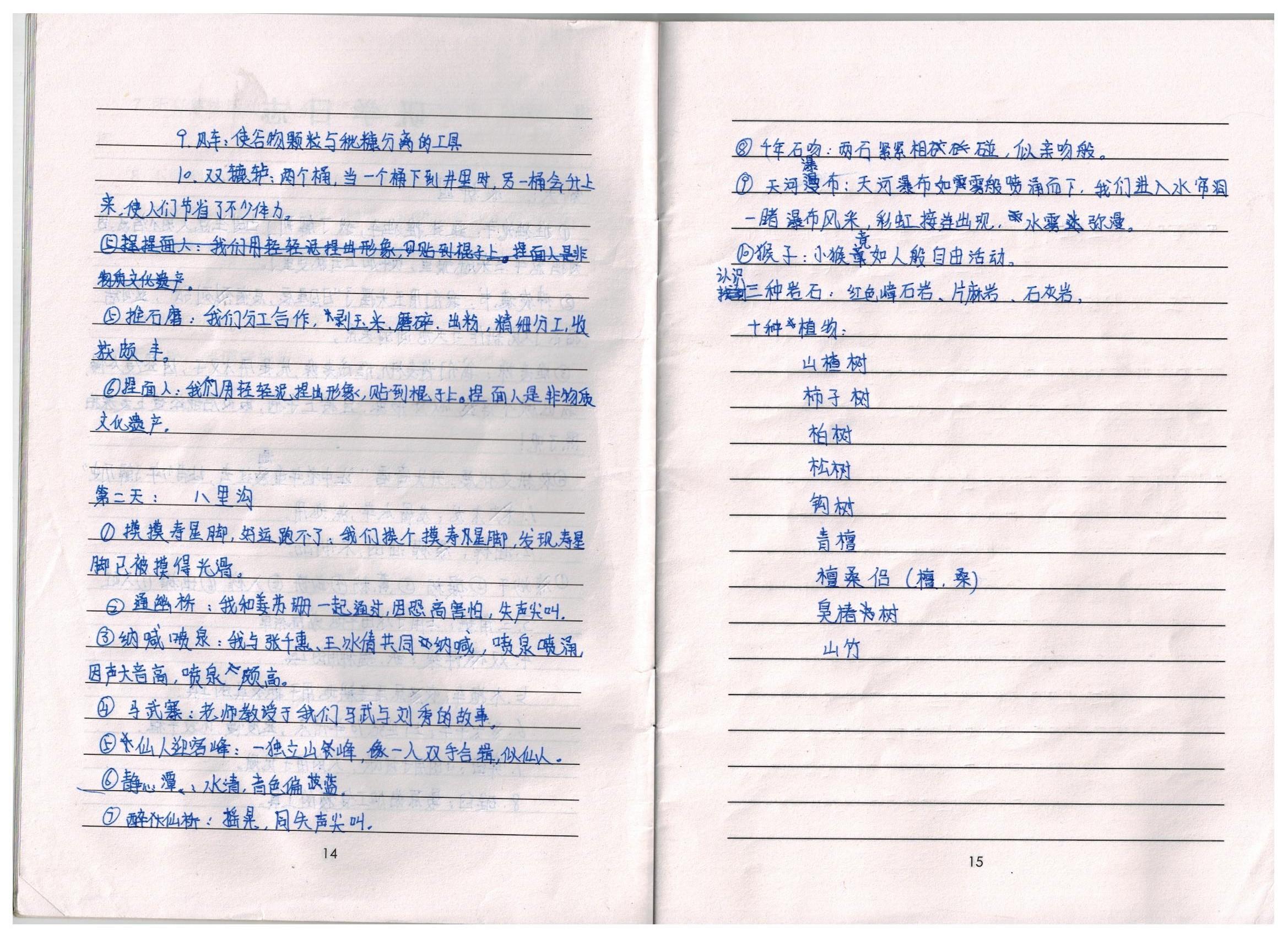 新乡市二十中学小学部研学-优秀笔记