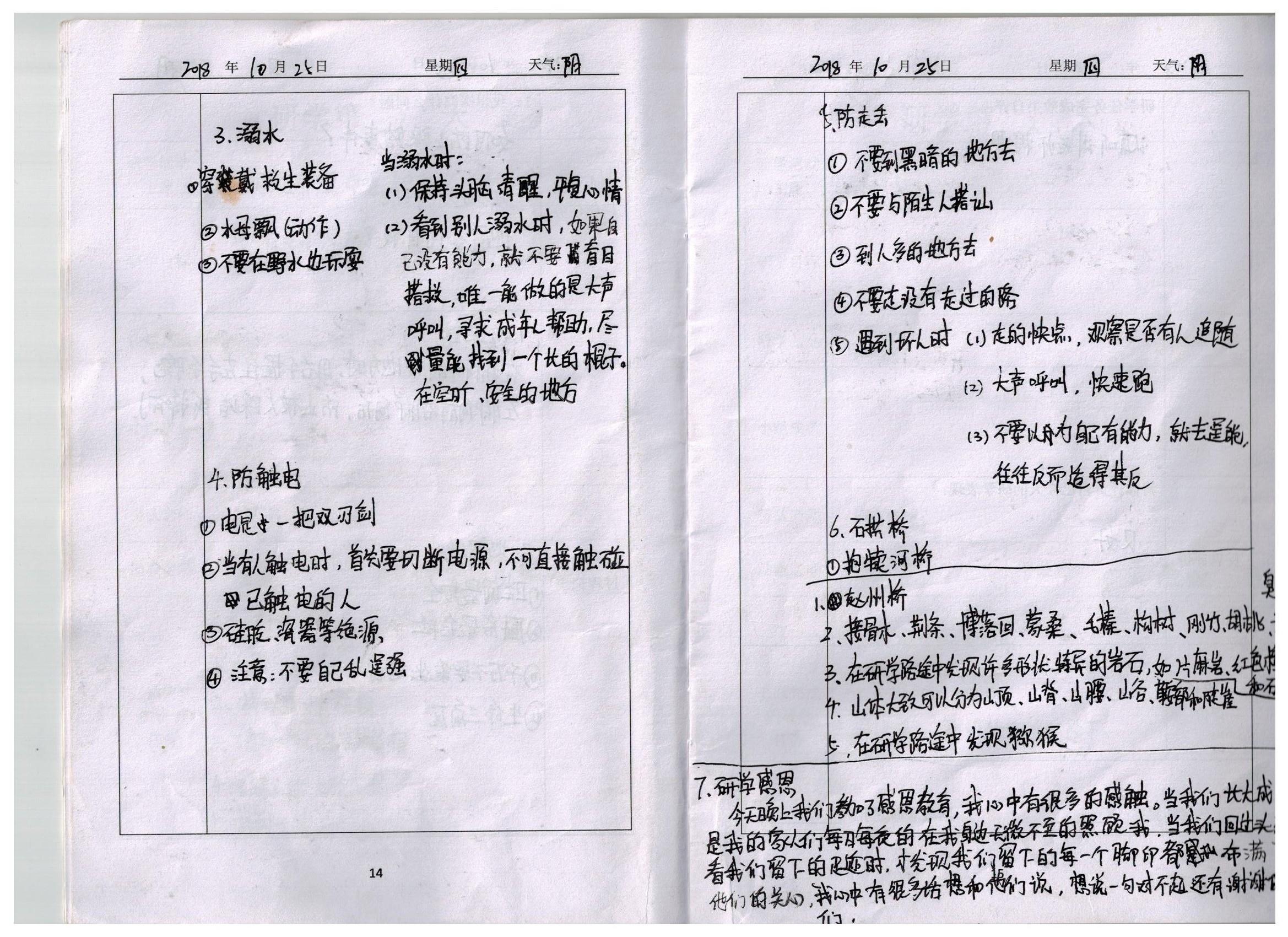 新乡市二十中学初中研学-优秀笔记